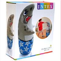 加厚INTEX塑料充气 沙底 大号鲨鱼不倒翁玩具