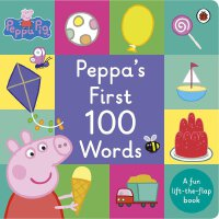 Peppa Pig: Peppa's First 100 Words 英文原版 粉红猪小妹:100个单词