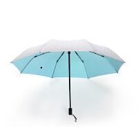 当当优品 三折色胶晴雨伞 防晒遮阳伞(四色可选)