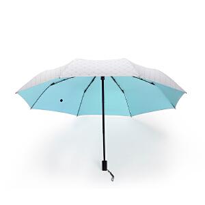 三折防晒色胶伞