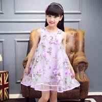 童装女童夏装2017新款儿童连衣裙公主裙夏季中大童女孩12岁裙子15