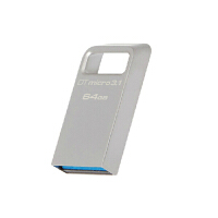 Kingston 金士顿 DTMC3 64G USB3.1 优盘 64g DTMicro 3.1 金属U盘 64G(银色)
