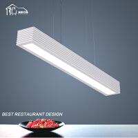 祺家 餐厅灯现代简约吊灯长方形可变色灯饰灯具ID42