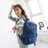 吉野新款韩版女包包简约女士双肩包尼龙背包防水包中学生书包学院风旅行双肩背包电脑包9043