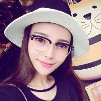 陈冠希明星同款潮人复古米钉眼镜框011 金属边半框眼镜架