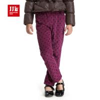 季季乐冬季女童水洗长裤波点耐磨防风舒适加绒休闲长裤GDK42090