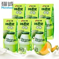 包邮 【韩国进口】Binggrae/宾格瑞 哈密瓜牛奶200ml*24盒整箱 果味饮料 营养早餐牛奶