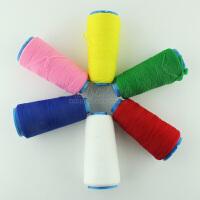DIY工具卷线 小QQ线缝纫涤纶手缝线 针线缝衣手工彩色黑白线 家用缝纫线 丝网花材料