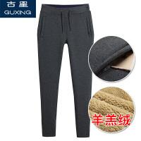 冬季加绒加厚运动裤女长裤修身显瘦直筒保暖卫裤羊羔绒休闲裤