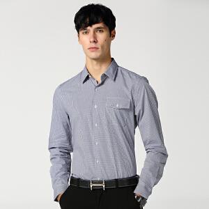 秋装新款时尚商务休闲衬衫 男士长袖修身衬衣 集合智造系列