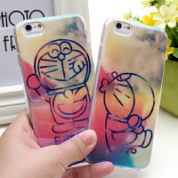 蓝光硅胶卡通情侣潮牌苹果iphone6plus手机壳iphone5s保护套外壳