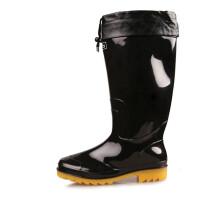 回力雨鞋黑色大码户外男款套鞋中筒胶鞋高筒洗车鞋加绒加棉雨靴子水鞋807
