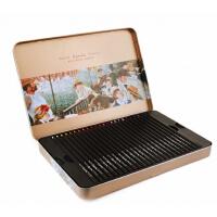 马可雷诺阿 3200�\木彩色铅笔 12/36/48色油性彩铅 彩铅画铅笔铁盒套装 秘密花园填色 涂色本适用彩铅