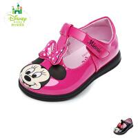 迪士尼Disney童鞋婴童学步鞋米妮小公主婴儿鞋宝宝学步小皮鞋时装鞋 (0-4岁可选) DH0206