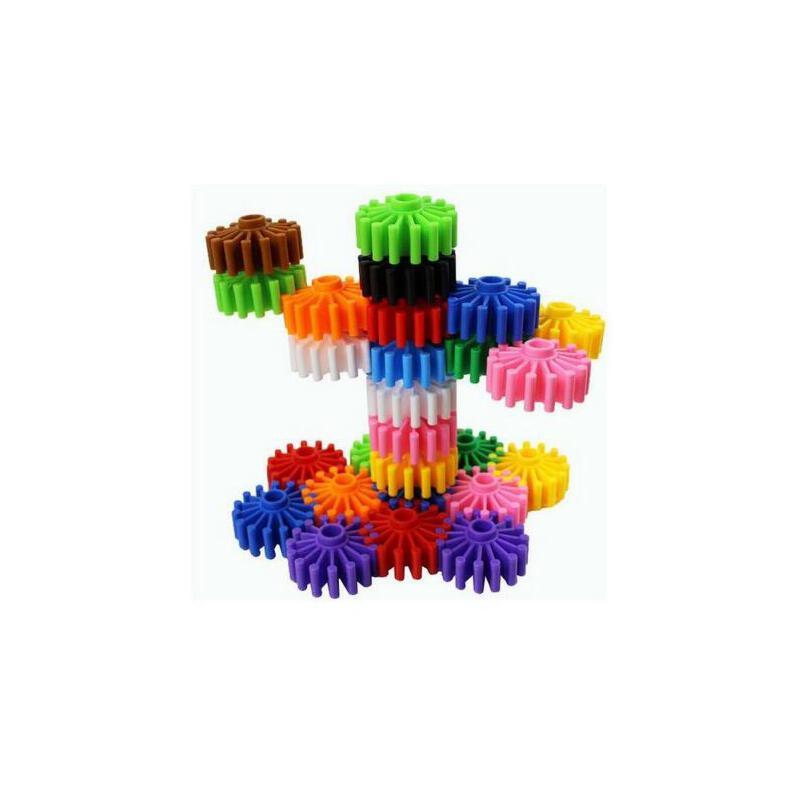 加厚齿轮拼插拼装塑料积木幼儿园儿童益智力早教启蒙拼图玩具袋装