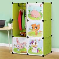 思故轩卡通衣柜简易儿童宝宝婴儿收纳柜组合塑料树脂组装衣橱 衣柜