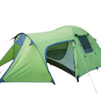 户外3-4人帐篷野外露营装备1室1厅双层防雨登山帐篷套装