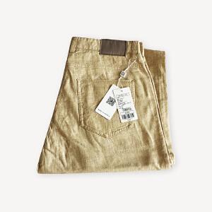 初秋亚麻男士修身长裤 时尚休闲透气裤子 集合智造系列