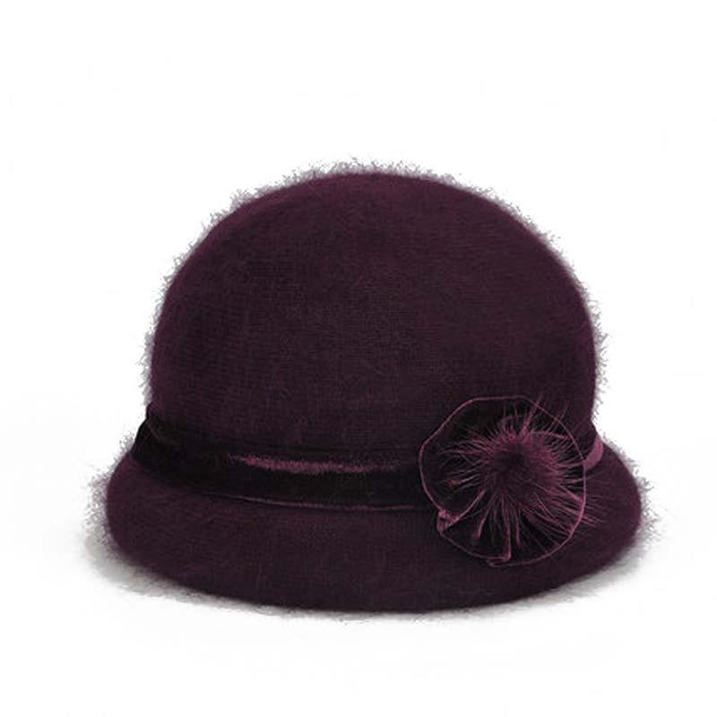 秋冬中年围巾保暖妈妈帽子 女中老年老太太厚帽子 老人婆婆奶奶毛帽