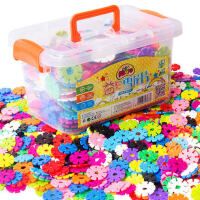 雪花片积木塑料无磁力性幼儿园男女孩宝宝1-2儿童玩具3-6周岁批发