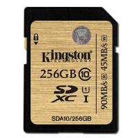 金士顿(Kingston) UHS-I U3 Class10 UHS-I  SDA10  16G 32G 64G 128G 256G -90MB/S SD高速存储卡   土豪金