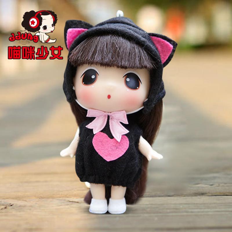 ddung/冬己韩国迷糊娃娃 9cm卡通可爱儿童玩具迷你小芭比娃娃_猫咪