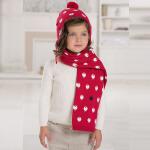 davebella戴维贝拉羊年纪念款 男女童冬季宝宝保暖纯棉针织围巾