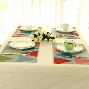 乐唯仕餐垫餐桌布艺隔热防烫杯垫碗垫盘垫欧式西餐垫长方形垫