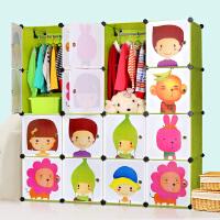 索尔诺收纳柜DIY组装树脂塑料卡通儿童简易衣柜宝宝衣橱