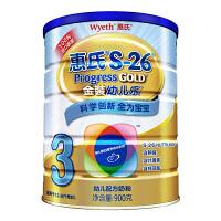 【当当自营】惠氏Wyeth S-26金装幼儿乐婴幼儿配方奶粉3段 900g/桶 进口奶源(惠氏三段)