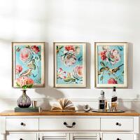 奇居良品 欧美式客厅卧室书房有框画挂壁画装饰画 坎贝尔花鸟蝶