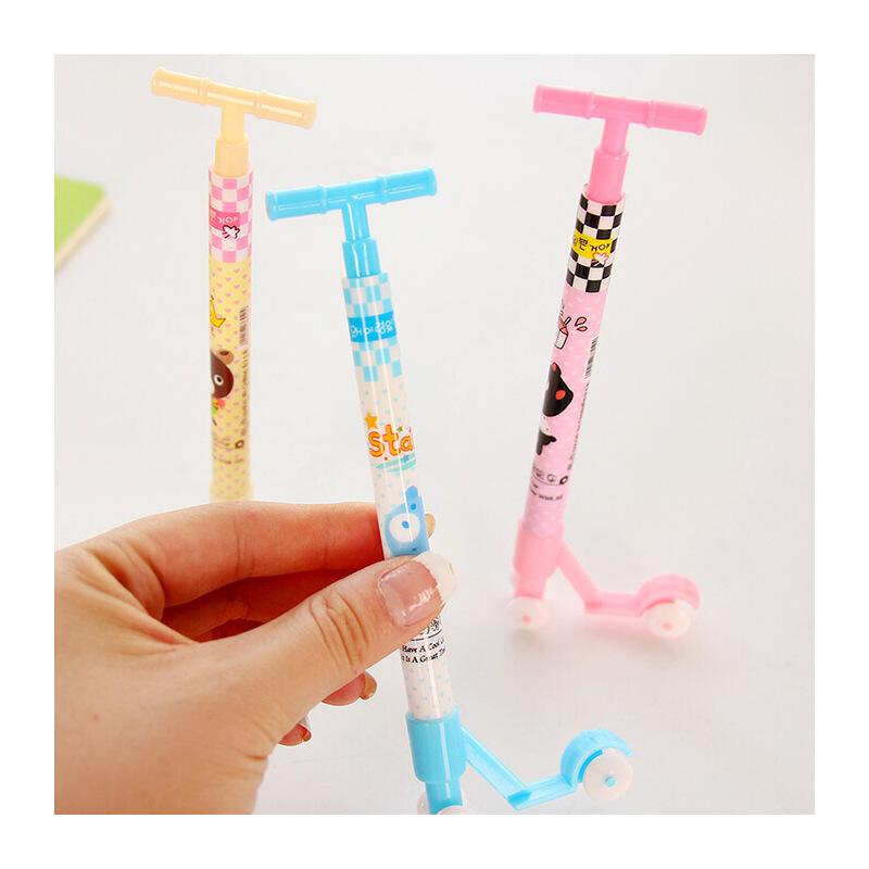 韩国文具 可爱滑板车圆珠笔 创意圆珠笔