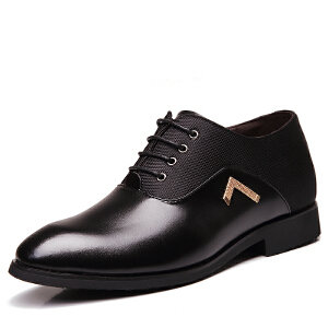 格罗堡春新新款增高鞋男鞋秋冬季新品男士内增高皮鞋6cm商务正装休闲皮鞋内增高男鞋婚K8255
