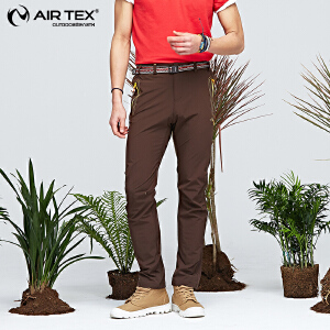 AIRTEX/亚特 快干排汗 纯色弹力速干长裤男款 英国时尚户外