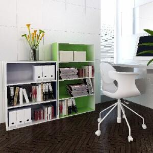 [当当自营]慧乐家 L60四层收纳柜 绿+白色11242 书柜书架 储物收纳柜子