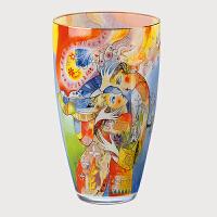 德国高宝Goebel进口迪蒂埃・得拉莫尼卡艺术花瓶  欧式装饰品花瓶摆件 客厅玻璃插花花瓶
