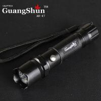 AK-47军用户外手电筒 强光LED充电手电筒 3档铝合金手电6800毫安