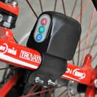 圣马自行车锁死飞山地车ABC报警器密码锁电子锁防盗安全装备配件