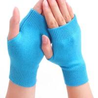 男女冬可爱半指情侣露指毛绒手套   打字淑女半指短手套  保暖触控小手套