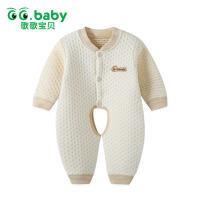 歌歌宝贝 秋冬季新款宝宝内衣 保暖内衣 婴幼儿保暖开裆连体衣