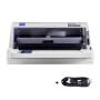 爱普生(EPSON) LQ-615KII 82列平推针式打印机税控发票平推票据快递发货单连打替代615K 610K