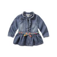 davebella戴维贝拉女童秋冬装新款宝宝婴儿长袖牛仔裙