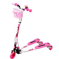 【当当自营】炫梦奇儿童滑板车 蛙式滑板三轮车 双后刹车 可调高低 闪光轮 粉色