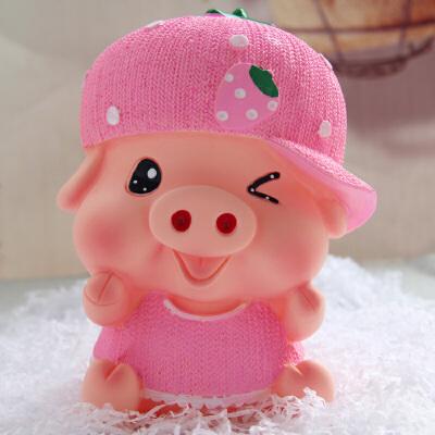 萌味 存钱罐 创意大号猪存钱罐可爱卡通麦兜猪储蓄罐 防摔儿童储钱罐