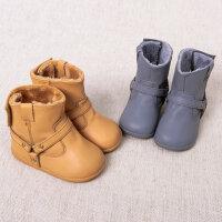 davebella戴维贝拉男女童冬季新款宝宝加绒保暖雪地靴