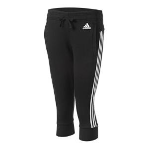 Adidas阿迪达斯女裤 2017夏季新款运动休闲中裤七分裤短裤 S97107