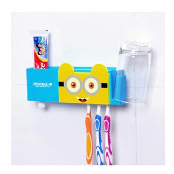 q版可爱动物牙刷架家庭组合装