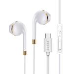 【支持礼品卡+包邮】LUOBR 洛倍尔 Type-C接口耳机 乐视手机耳机音质好 金色G6耳机_活动