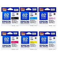 原装正品 爱普生 EPSON 82 六色 套装墨盒 T0821黑色 T0822青色 T0823洋红色 T0824黄色 T0825浅青色 T0826浅洋红色