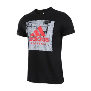 Adidas阿迪达斯男装  2017夏季新款足球运动休闲短袖T恤  BP7246/BP7244